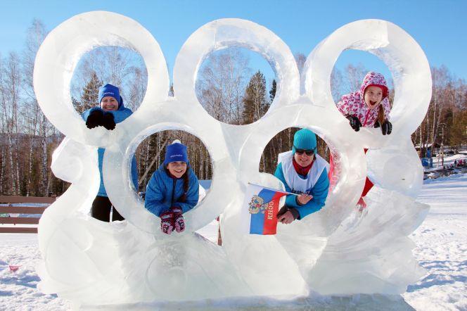Фоторепортаж с церемонии открытия VIII зимней олимпиады городов Алтайского края