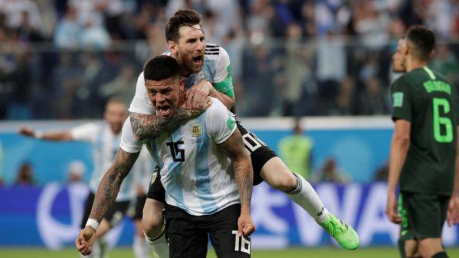 Голы Месси и Рохо вывели Аргентину в плей-офф чемпионата мира. Фото Reuters