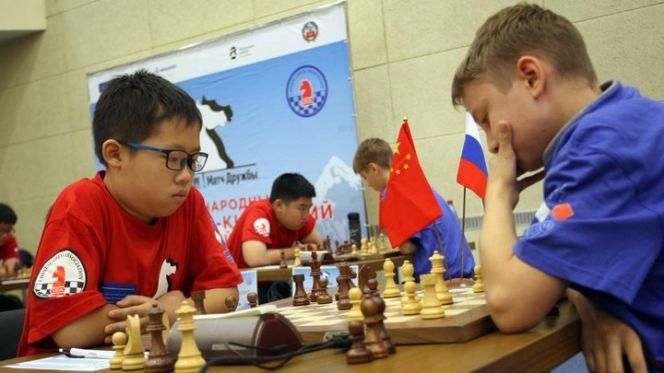 V «Матч Дружбы» между юношескими сборными Китая и России. Фото: Евгений НАЛИМОВ
