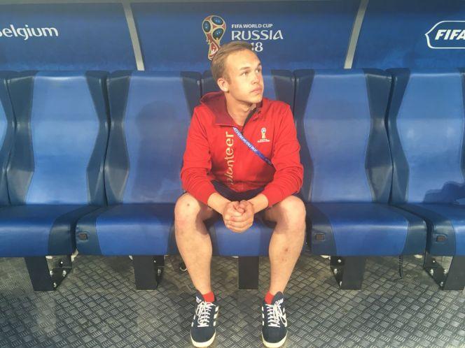 Артём Тарасов на скамейке запасных сборной Бельгии