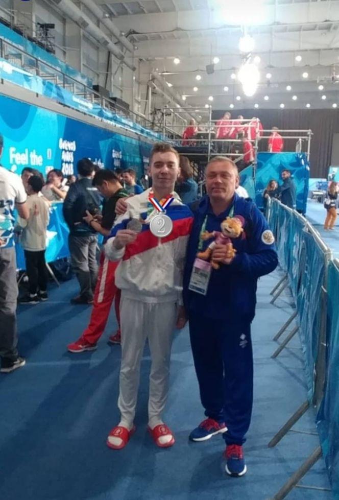 Сергей Найдин со своим тренером Сергеем Степаненко