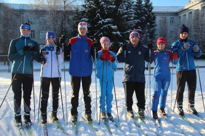 Тренировка по первому снегу