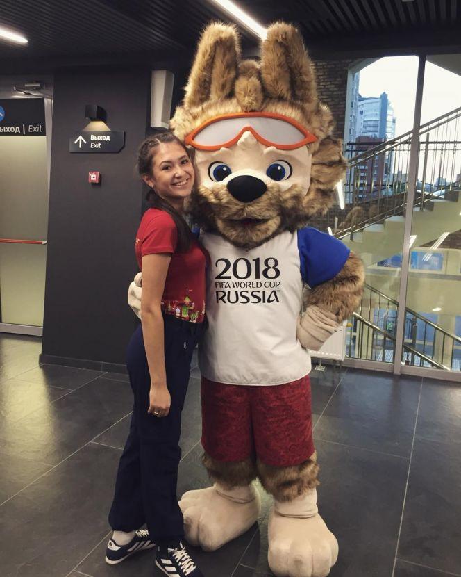 Татьяна Рахметова из Михайловского в этом году работала волонтёром на одной из площадок Чемпионата мира по футболу в Екатеринбурге