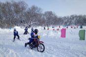 В Змеиногорске прошли гонки мотолыжных экипажей в рамках краевого праздника «Алтайская зимовка»