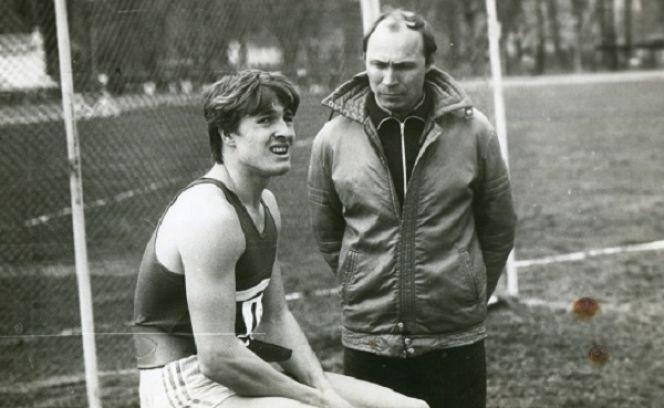 Виктор Погребной и один из его учеников Дмитрий Бызов. Фото из архива Виктора Погребного.