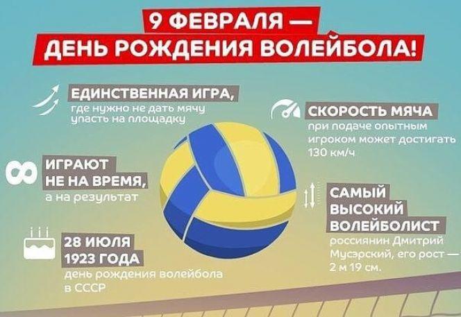 9 февраля - День рождения волейбола