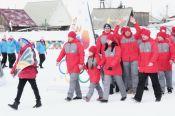 Церемония открытия XXXIV зимней олимпиады сельских спортсменов Алтайского края в Ребрихе (фото)