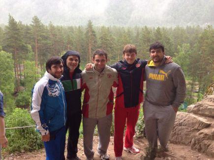 Эцио Гамба и мужская сборная России по дзюдо в Горном Алтае. 2013 год