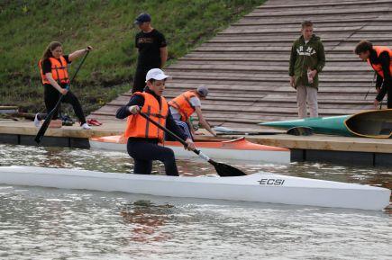 Тренировочный процесс на гребном канале в Барнауле