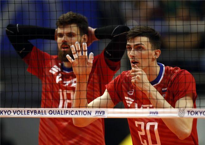 На фото: Ильяс Куркаев (№20) в игре против сборной Ирана