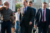 Как губернатор Виктор Томенко сходил на футбол с мэром Барнаула перед его отставкой