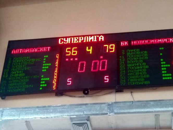 «АлтайБаскет» уступил «Новосибирску» в товарищеском матче – 56:79