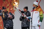 Эстафета олимпийского огня в Барнауле. Как это было