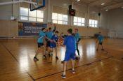 В районе прошли соревнования по баскетболу школьной баскетбольной лиги «КЭС-Баскет»