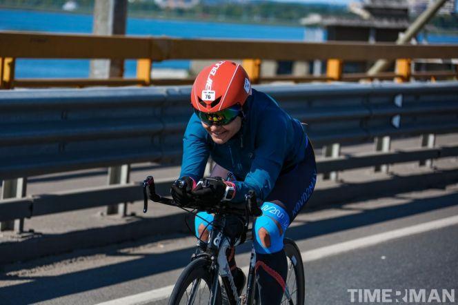 На фото: Елизавета Прохорова на дистанции Timerman Kazan Triathlon Full-2019