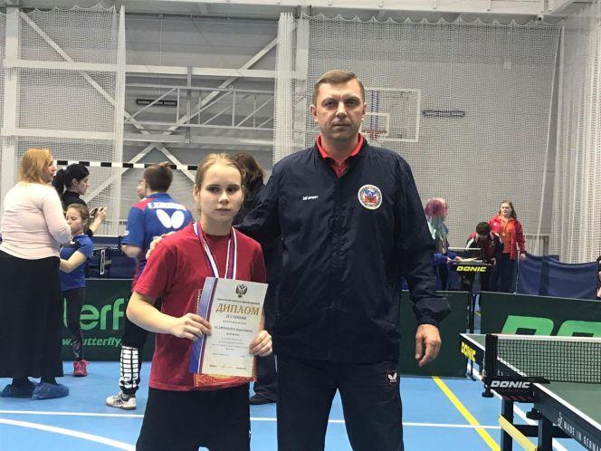 Кристина Агафонова и ее тренер Евгений Абрамов