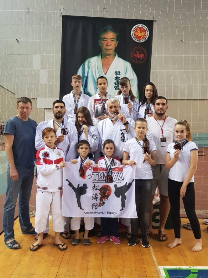 Сборная Алтайского края заняла третье место в командном зачёте первенства Федерации сётокан каратэ-до России