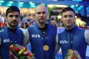Виктор Муштаков в составе мужской команды России - чемпион Европы в командном спринте