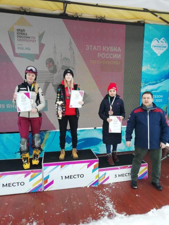 Дарья Фадеева из Белокурихи выиграла параллельный слалом на VI этапе Кубка России в Казани