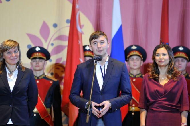 На фото: Сергей Карякин на открытии Moscow Open-2020