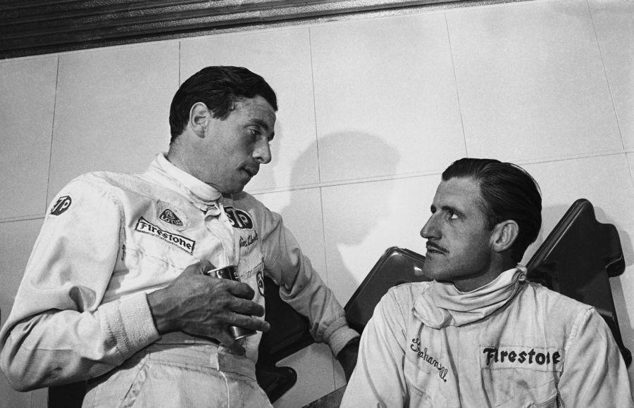 Джим Кларк и Грэм Хилл, 1966 год. Фото: AP Photo