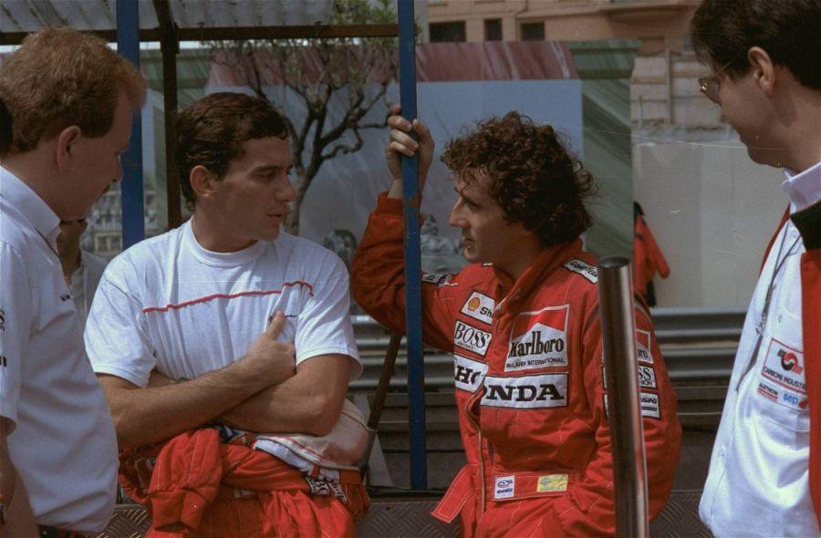 Айртон Сенна и Ален Прост, 1988 год. Фото: AP Photo/Pierre Cleizes
