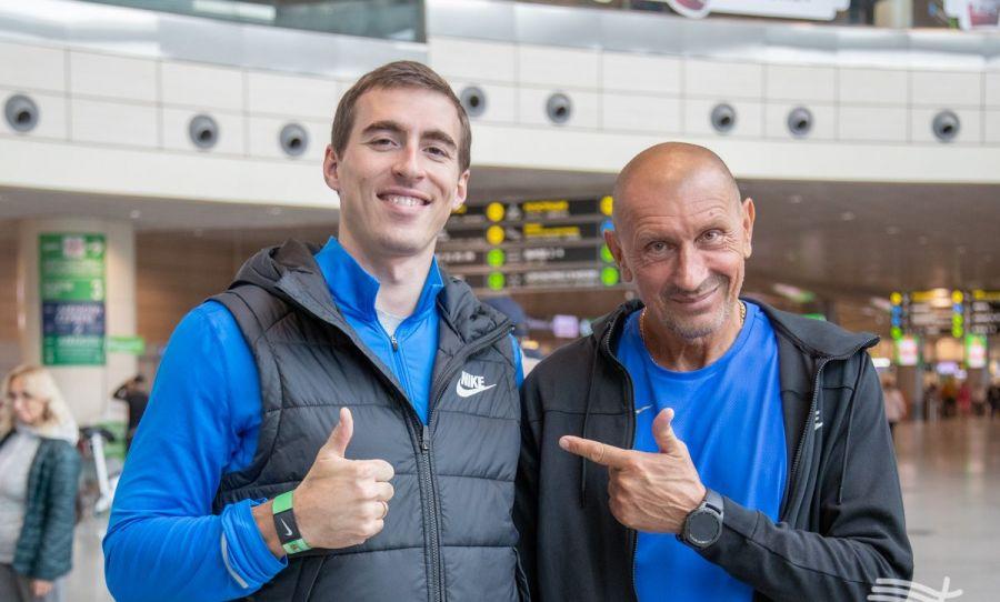 Сергей Шубенков и его тренер Сергей Клевцов. Фото: ВФЛА